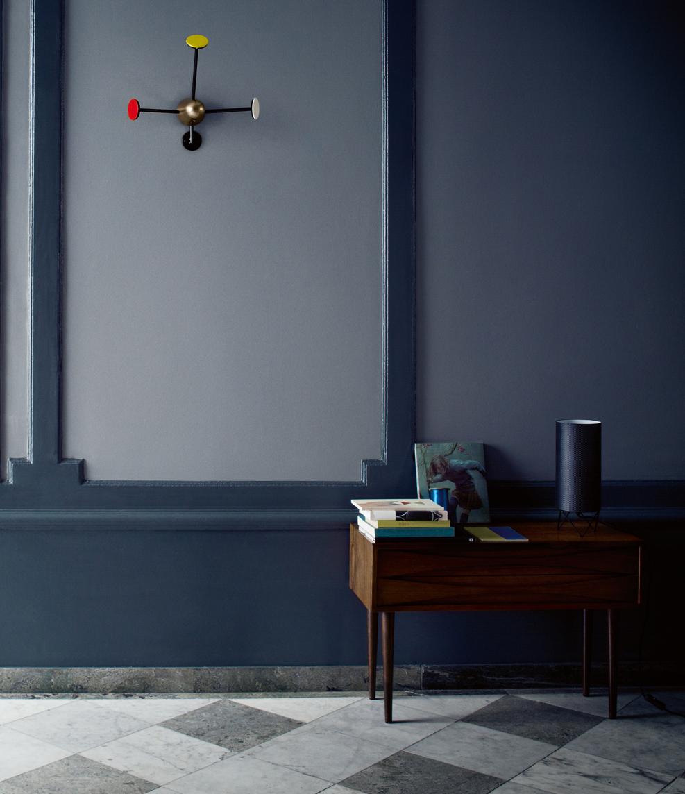 Entre style vintage et lignes contemporaines frenchy fancy for Peinture murale couleur bleu gris