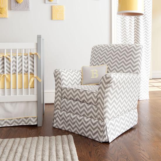 Chambre d'enfant en gris et blanc