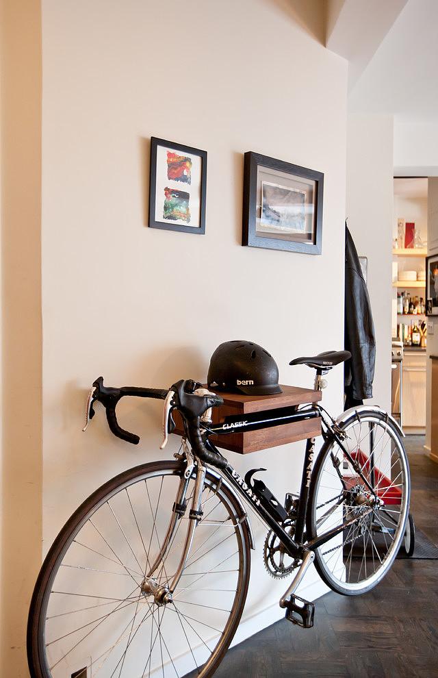 Porte-vélo mural