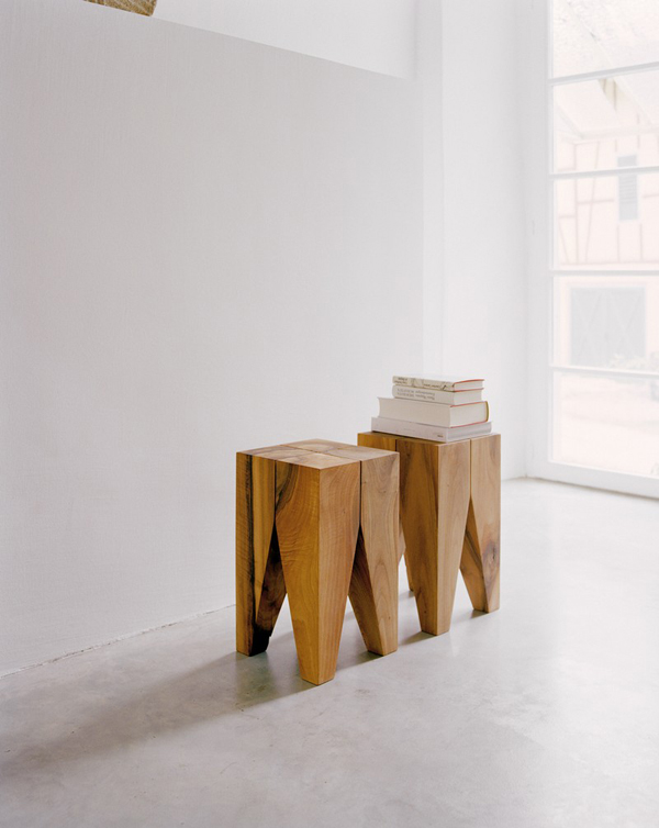 Tabourets en bois Philipp Mainzer pour e15