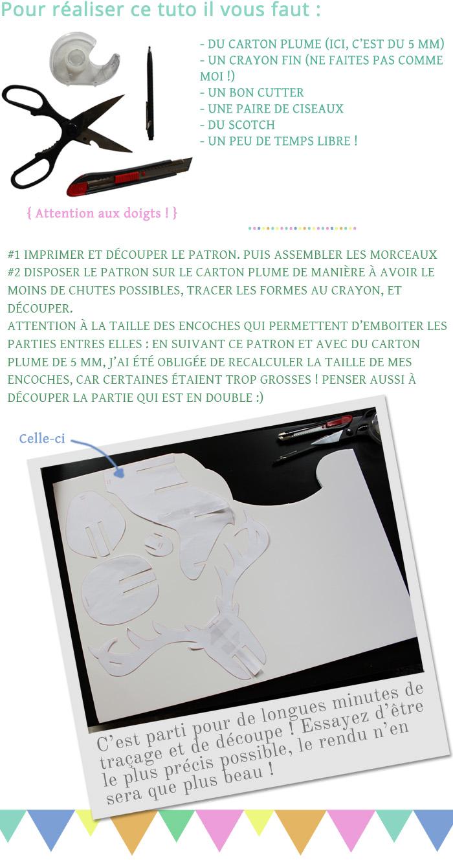 DIY #1 - La tête de cerf en carton - FrenchyFancy