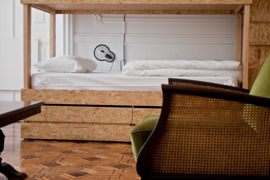 Chambre look moderne et vintage