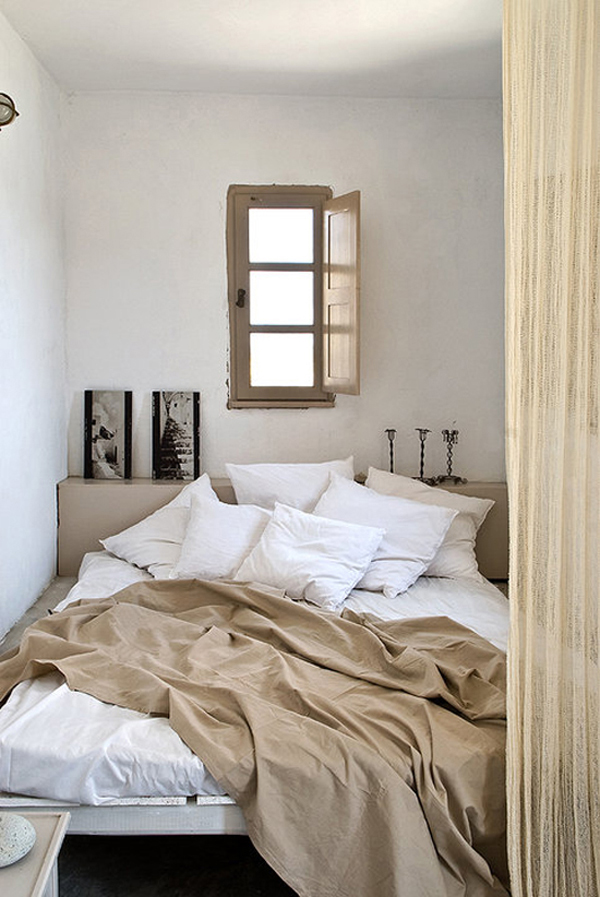 Chambre chaleureuse blanche