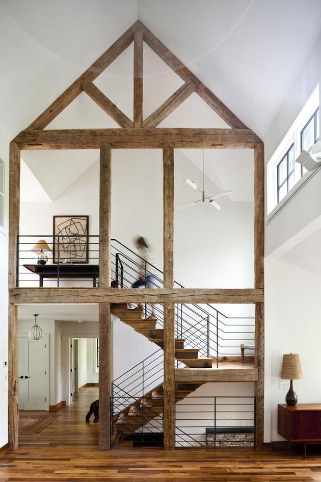 Architecture originale : une charpente apparente