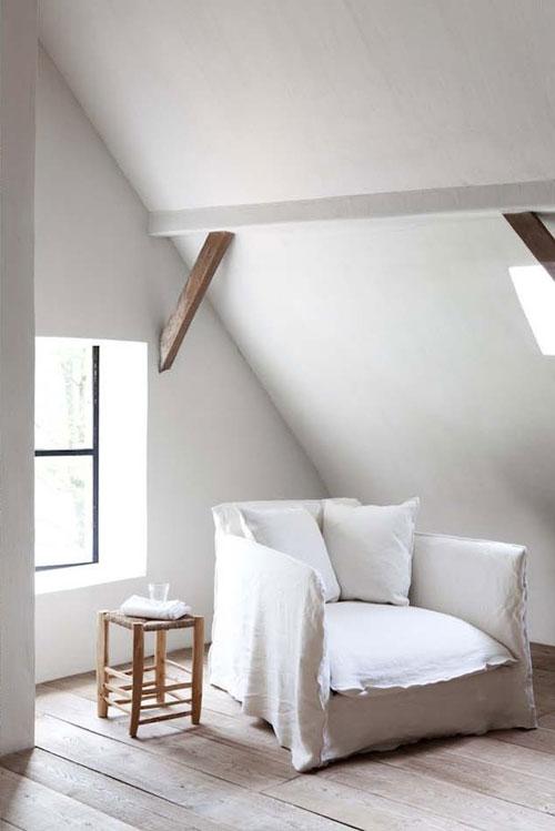 Fauteuil en lin blanc cosy