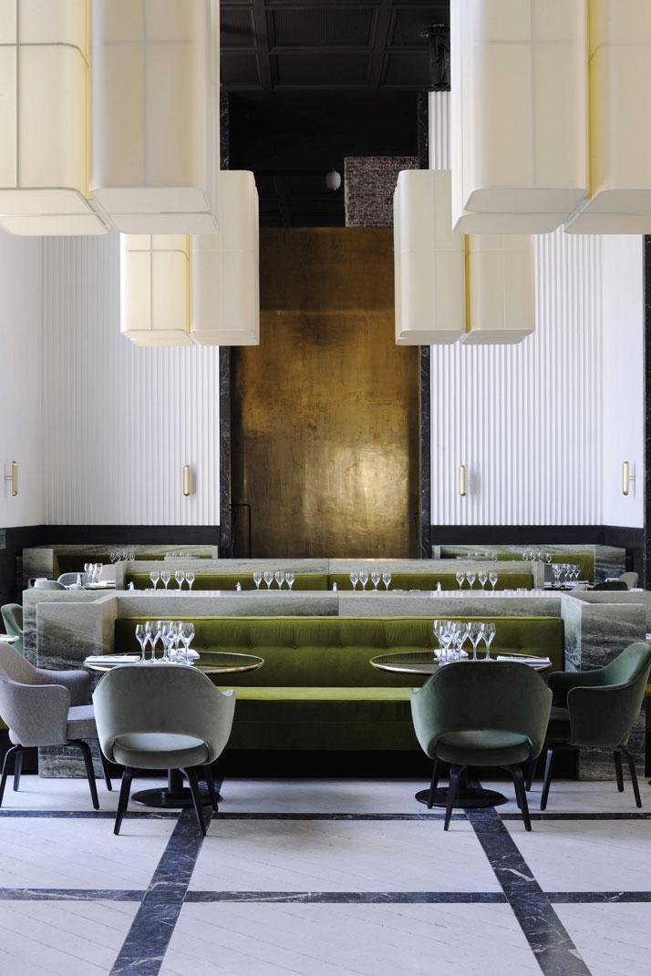 Le restaurant du Palais de Tokyo réalisé par Joseph Dirand