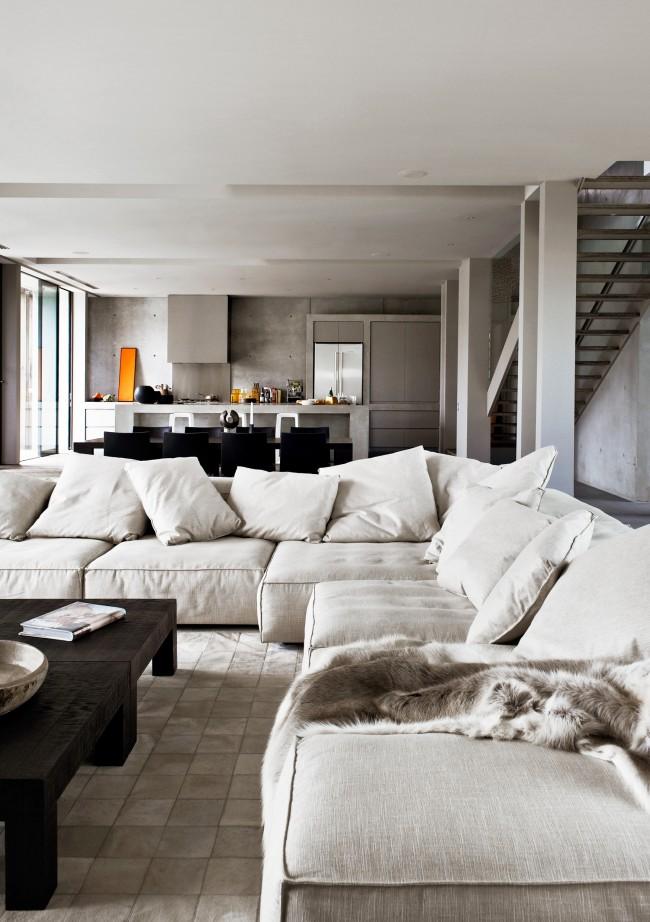 une villa contemporaine tout en b ton frenchy fancy. Black Bedroom Furniture Sets. Home Design Ideas