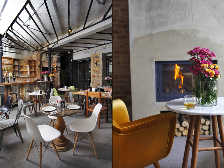 Un bar branché au look vintage industriel frenchy fancy