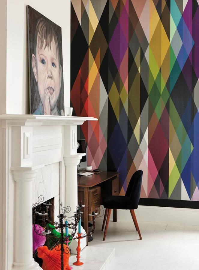 Mur graphique coloré