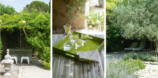 Terrasse aménagée d'un mas en Provence
