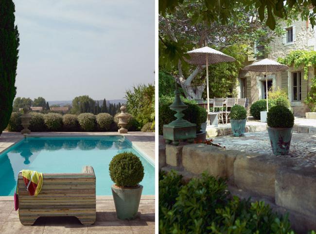 Visite d'un mas en Provence avec piscine extérieure et terrasse aménagée