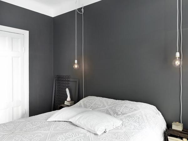 Mur chambre gris