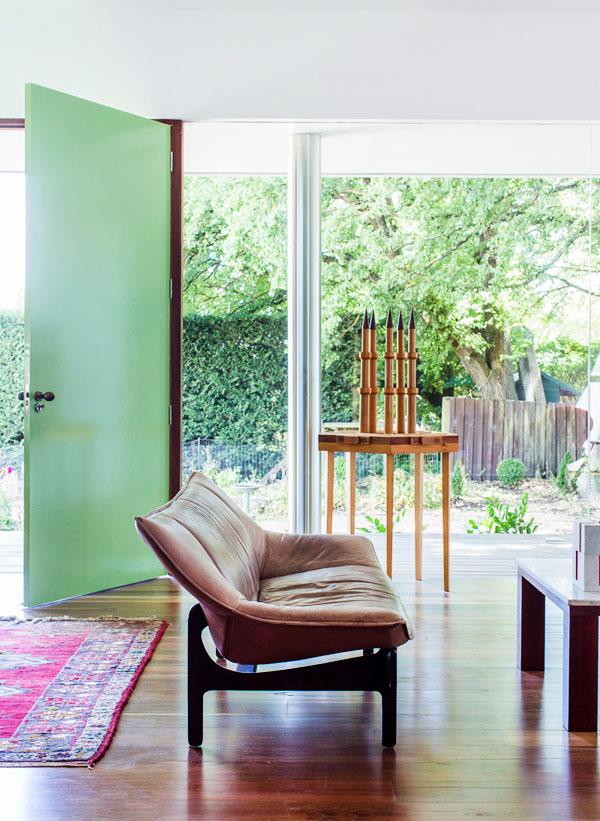 Maison contemporaine avec baies vitrées