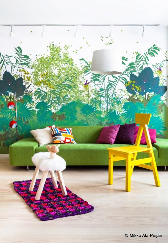 Papier peint motif végétal