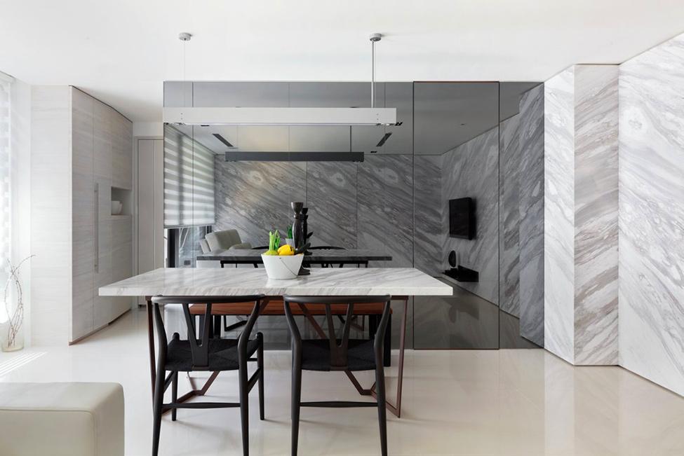 Cuisine contemporaine en marbre