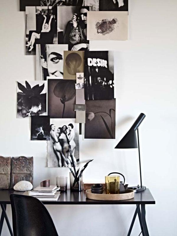 Intérieur scandinave avec lampe Arne Jacobsen