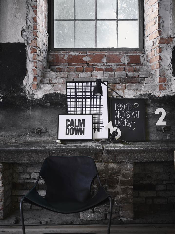 Une déco Black & White style loft