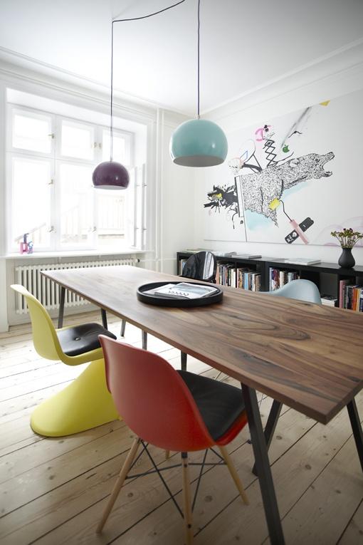 Table de repas et chaises Panton