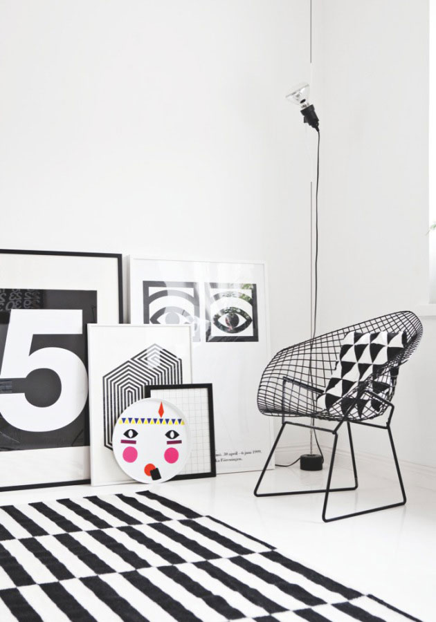 Une déco scandinave Black & White