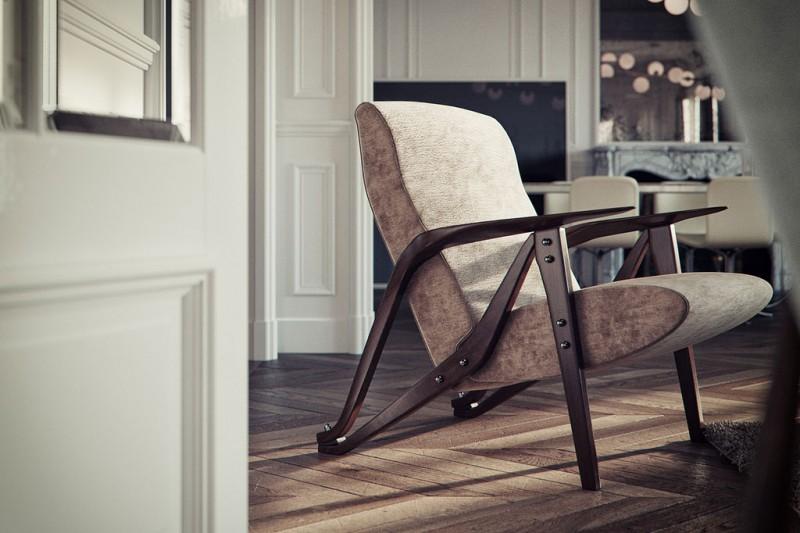 Modélisation intérieur 3D par Bertrand Benoit