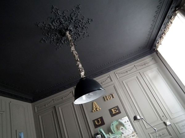 inspirations osez peindre votre plafond frenchy fancy. Black Bedroom Furniture Sets. Home Design Ideas