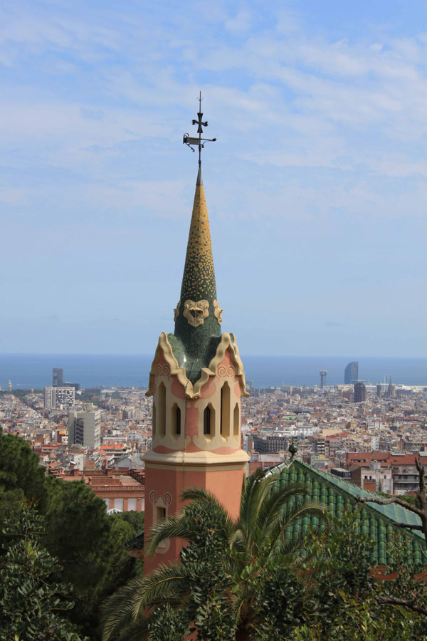 Vue depuis les hauteurs de Barcelone