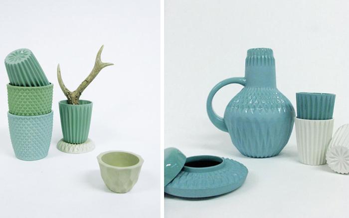 Des céramiques aux couleurs pastel by Lenneke Wispelwey