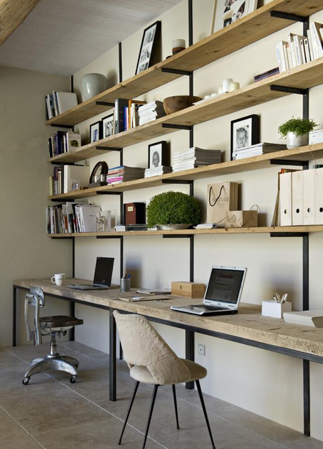 Inspiration bien am nager son bureau frenchy fancy - Planche de bois pour bureau ...