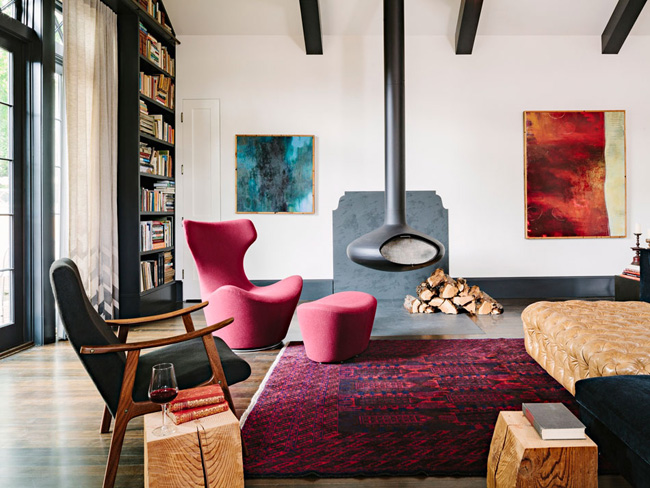 Séjour contemporain by Jessica Helgerson Interior Design
