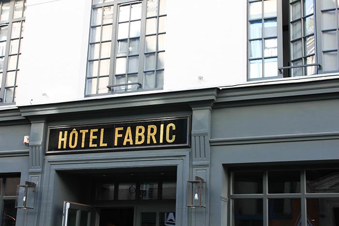 Le charme de l'Hôtel Fabric
