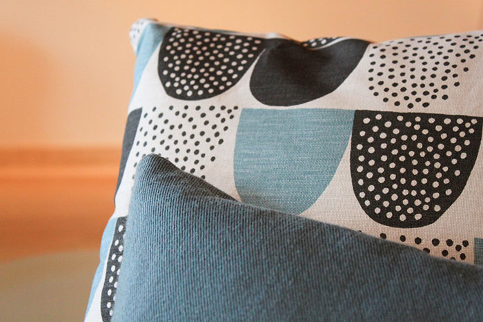 Coussin motif scandinave Oiva