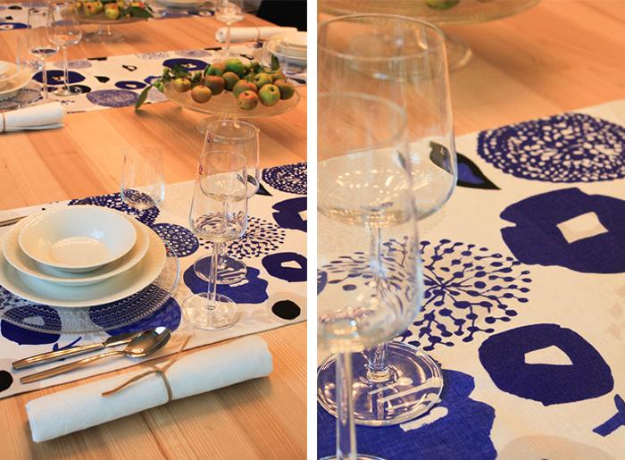 Vaisselle Iittala et textile Oiva