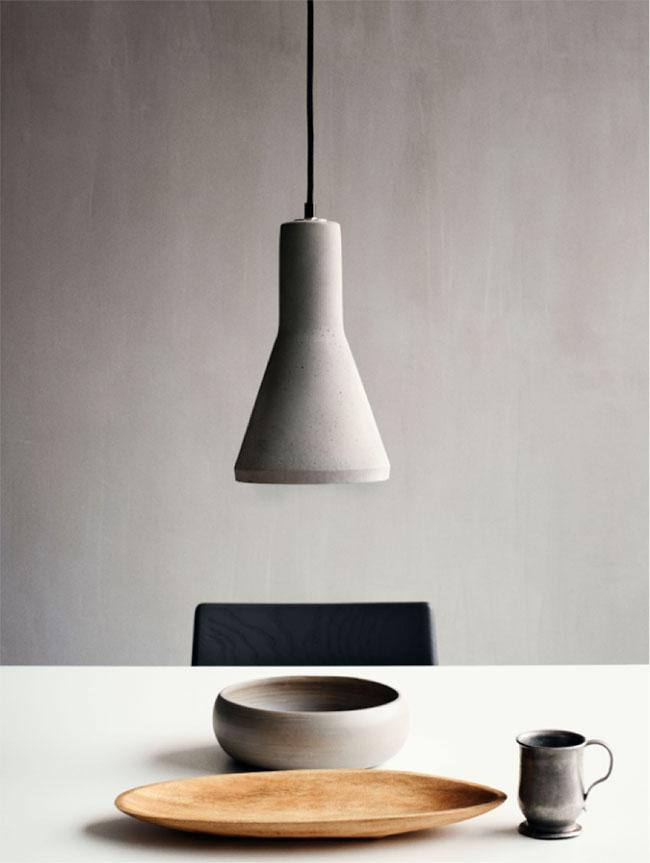 Luminaire design en béton