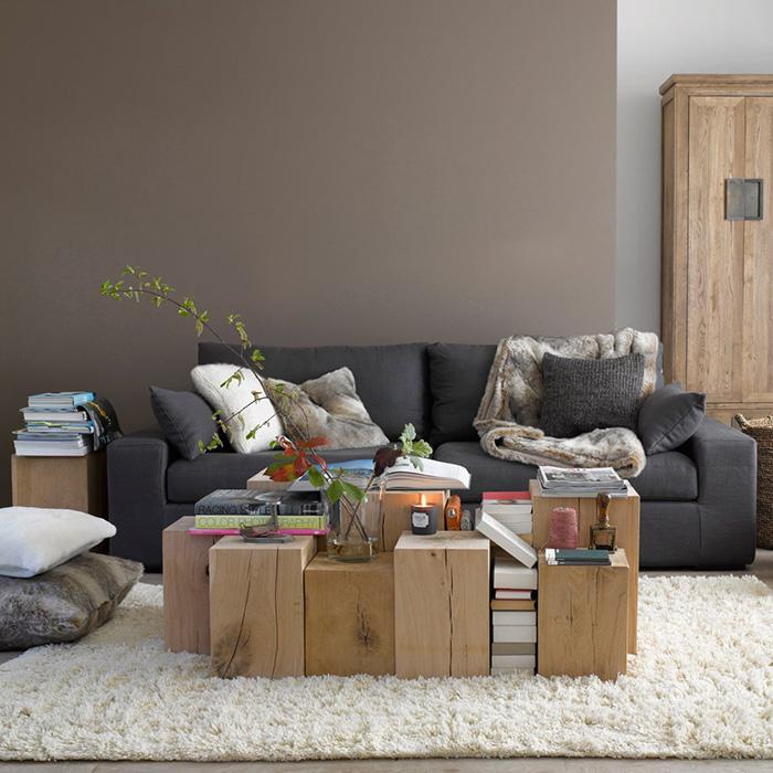 Tendance mobilier en chêne brut