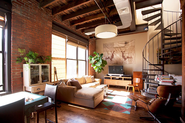 Un loft brooklyn frenchy fancy for Interieur loft new york