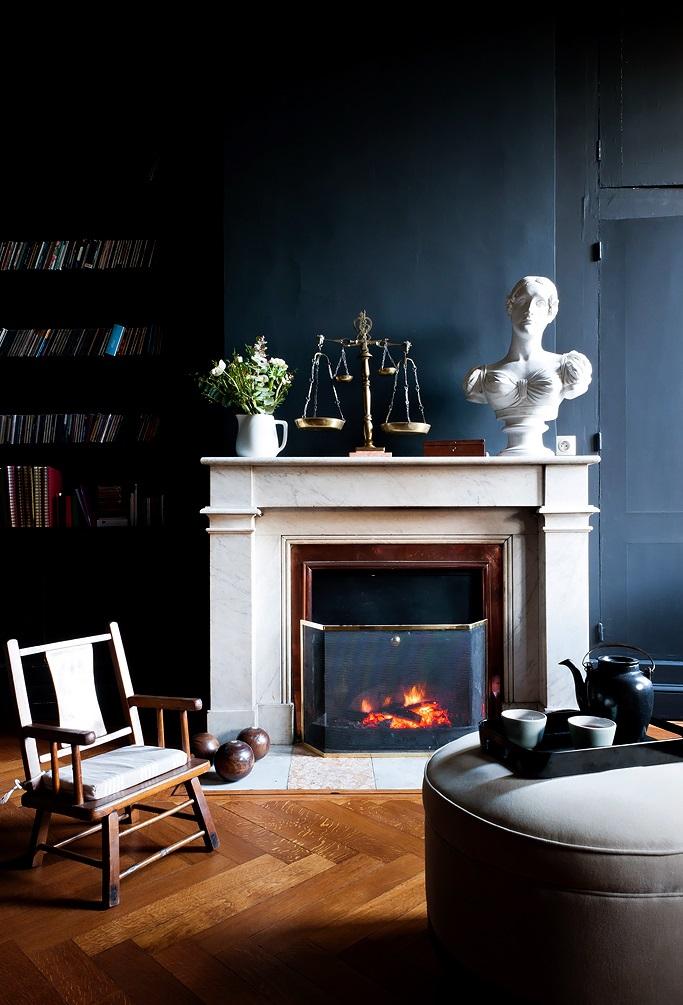 Salon Mur Bleu. Comment Decorer Un Salon Bleu Canard. D Co Salon ...