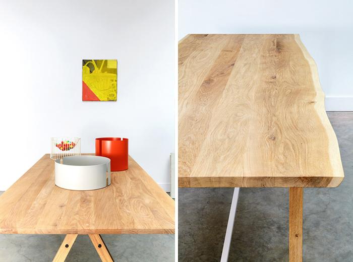 table chene brut design. Black Bedroom Furniture Sets. Home Design Ideas