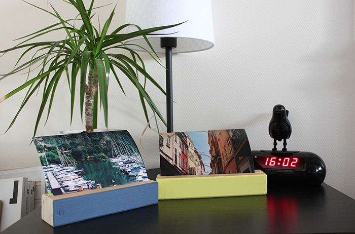 DIY #3 : des portes photos en bois !
