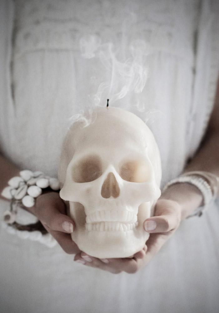 Bougie crâne