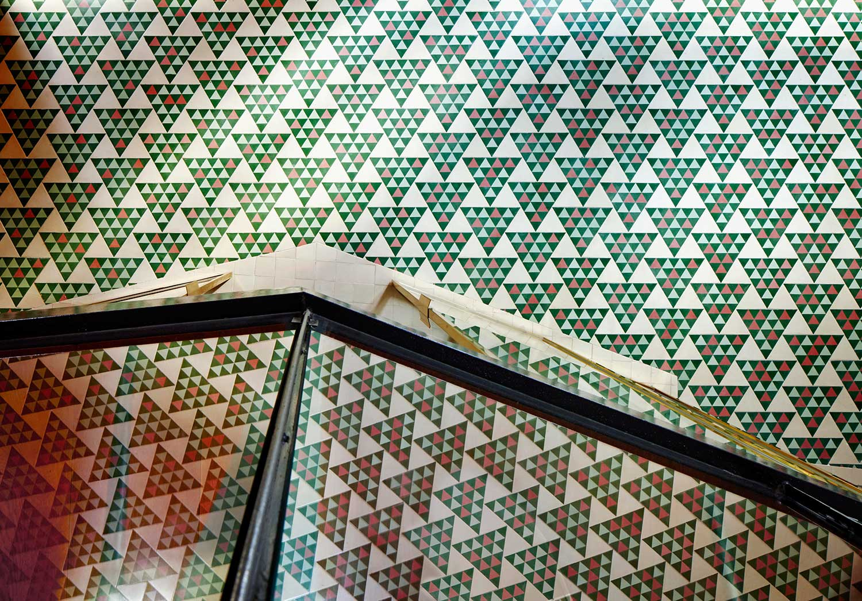 Carreaux en ciment à motifs géométriques