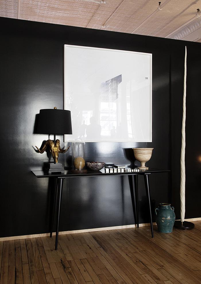 Peinture Mur Noir Paillete  ChaiosCom