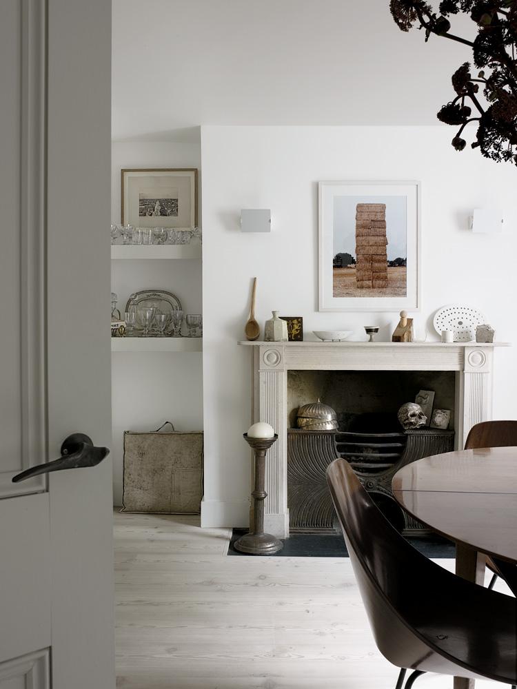 Décoration d'intérieur avec cheminée