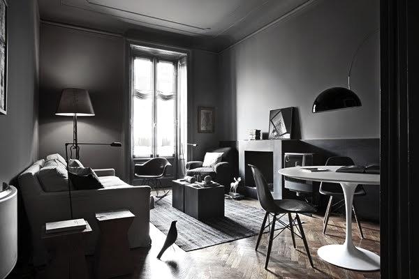 Design d'intérieur en noir et blanc