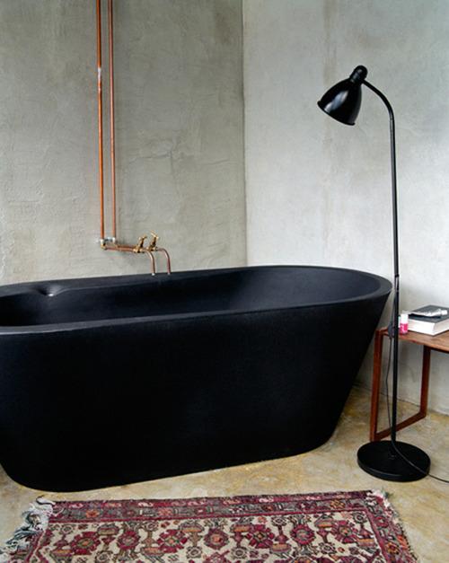 Baignoire noire design