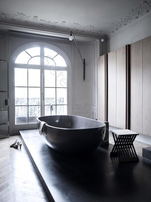 Salle de bain dans appartement haussmannien