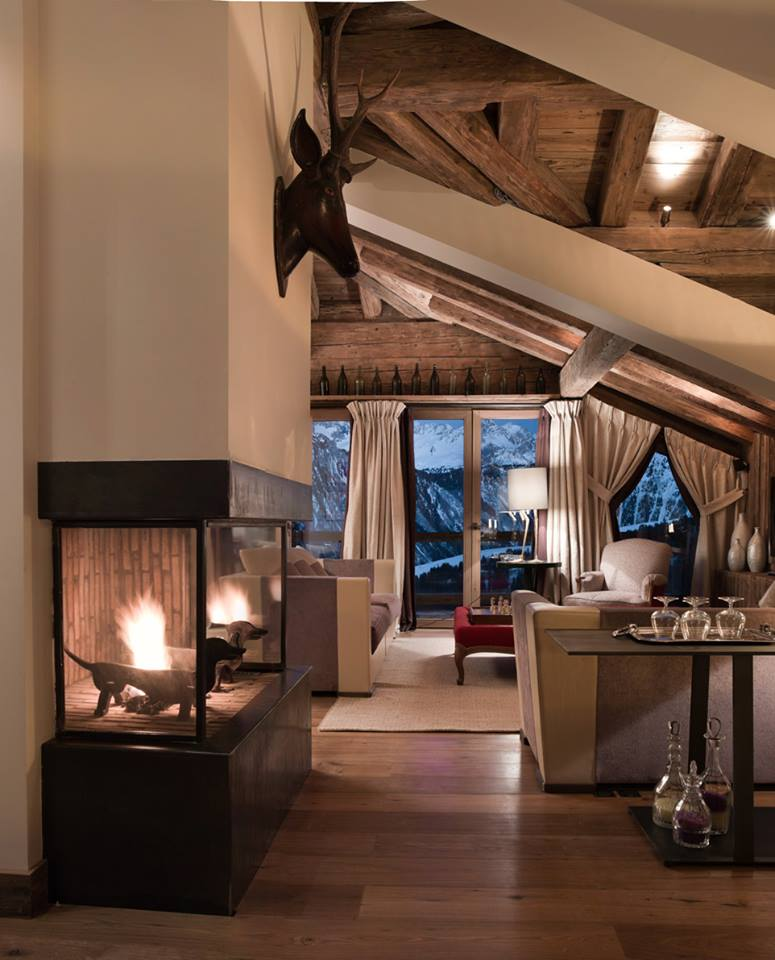 Le charme d 39 un chalet courchevel 1850 frenchy fancy for Modele deco interieur