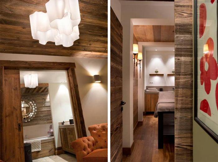 Intérieur contemporain en bois