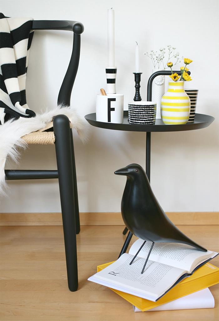 Stylisme d'intérieur et oiseau Eames