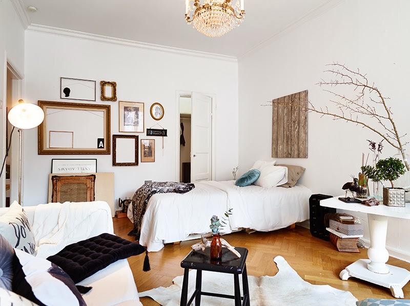 un charmant studio scandinave frenchy fancy. Black Bedroom Furniture Sets. Home Design Ideas