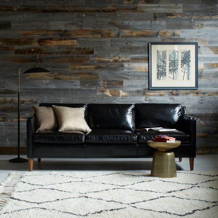 Décoration avec un canapé en cuir noir